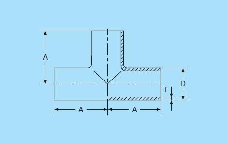 3-Way Sanitary Stainless Steel Equal Long Tee Weld End