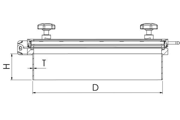 Glass Top Round Pressure Manway