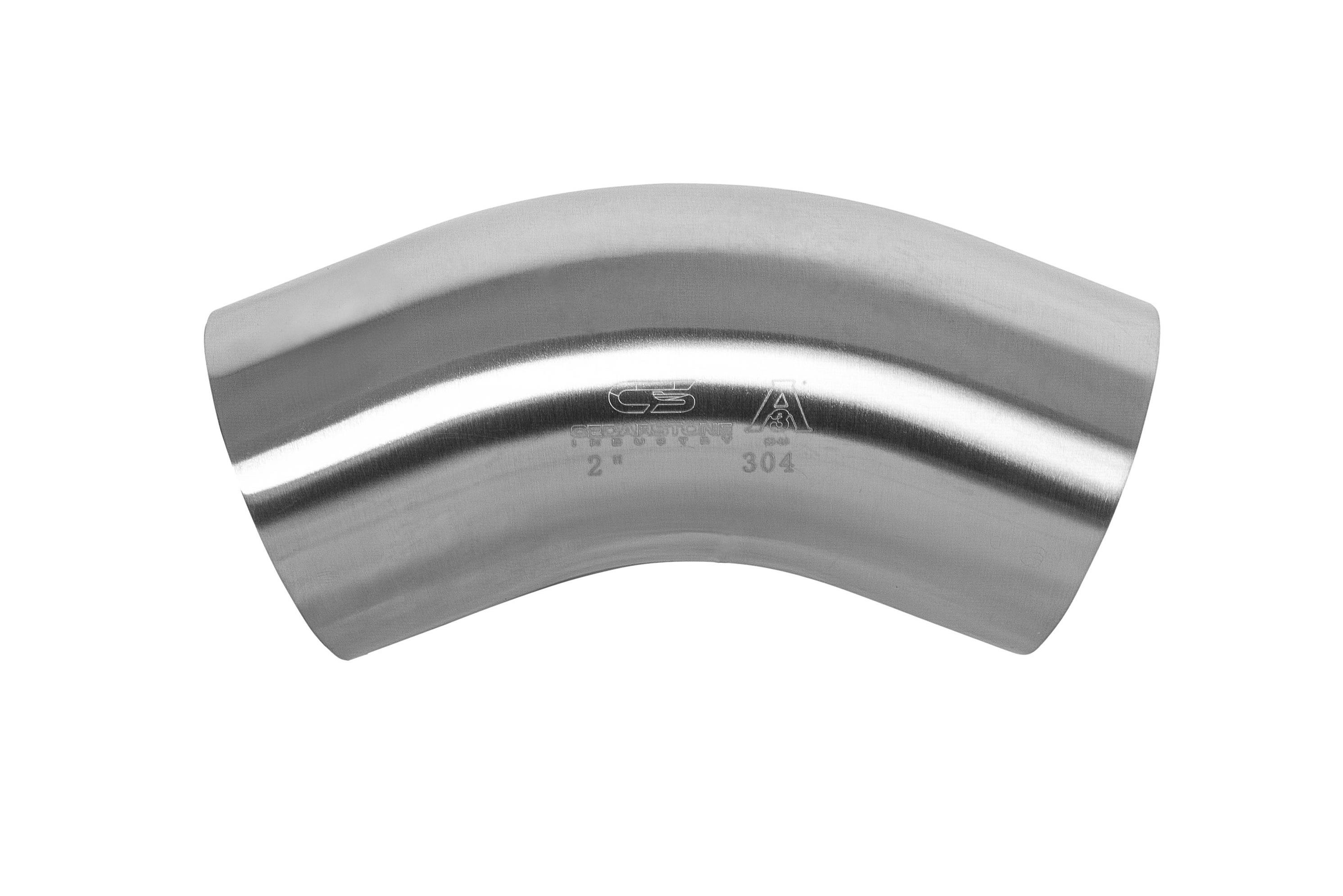 "90 Degree Sanitary Stainless Steel Short Bend Weld Fitting 1/"" 304"